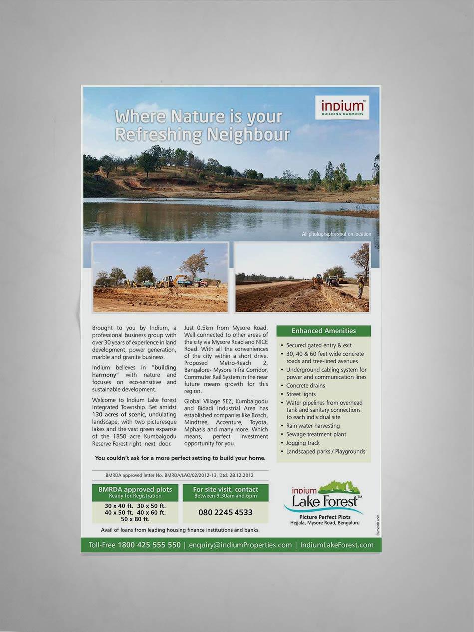 INDIUM lakeforest quater page ad